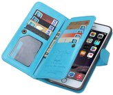 jasmine214 Leather Flip Case Folio Wallet with Card Slots for iPhone 6/6S Plus 7 Plus