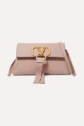 Valentino Garavani Vring Textured-leather Shoulder Bag - Blush