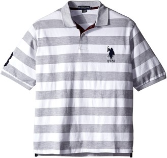 U.S. Polo Assn. Men's Big-Tall Striped Pique Polo
