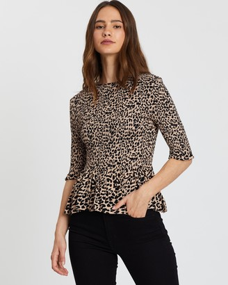 Atmos & Here Shirred Body Top