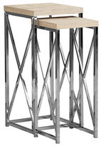 Monarch Set of Two Criss-Cross Accent Tables