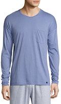 Hanro Paolo Long-Sleeve Shirt, Infinity