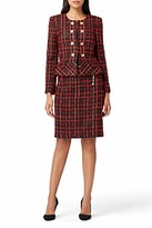 Tahari ASL Women's Boucle Double Peplum Jacket