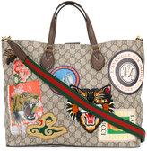 Gucci Courrier soft GG Supreme tote - men - Polyurethane/Viscose - One Size