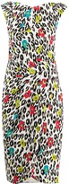 Talbot Runhof Towanda leopard jacquard dress