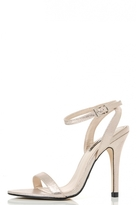 Quiz Gold Shimmer Cut Out Sandals