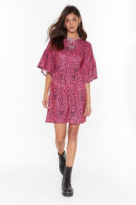 Nasty Gal Womens Animal Instincts Leopard Mini Dress - Pink - 4