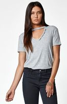 La Hearts Can't Stop Cutout Neck T-Shirt