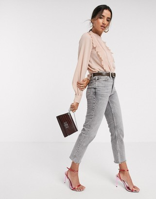 Vero Moda blouse with pleat front in pink