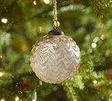 Pottery Barn Champagne Scalloped Mercury Glass Ball Ornament