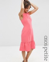 Asos Structured Frill Hem Dress