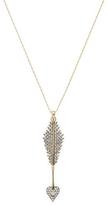 """Mizuki Women's Barley 26"""" Charm Diamond Heart Arrow Chain Necklace"""