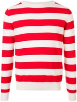 Holiday striped crew neck sweater