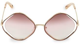 Chloé Poppy 57MM Diamond-Shape Sunglasses