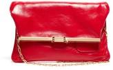 Bienen Davis Bienen-davis - Pm Fold-over Leather Clutch Bag - Womens - Red