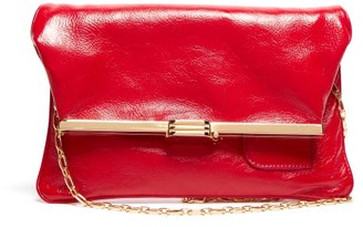 BIENEN-DAVIS Pm Fold-over Leather Clutch Bag - Womens - Red