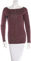 Diane von Furstenberg Long Sleeve Silk Top