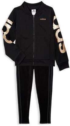 adidas Girl's Logo Tricot Jacket