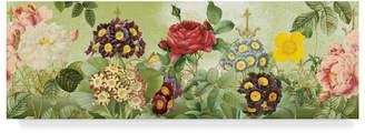 """Jean Plout 'Flower Garden Colorful' Canvas Art - 32"""" x 10"""""""