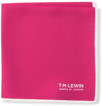 T.M.Lewin Silk Plain Pocket Square