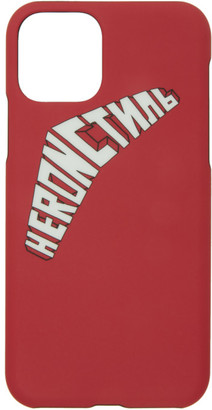 Heron Preston Red and White Logo iPhone 11 Pro Case