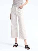 Banana Republic Stay White Wide-Leg Crop Jean
