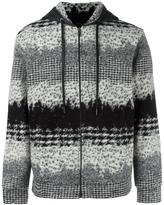 Plac patterned zipped hoodie