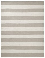 Williams-Sonoma Patio Stripe Indoor/Outdoor Rug, Black