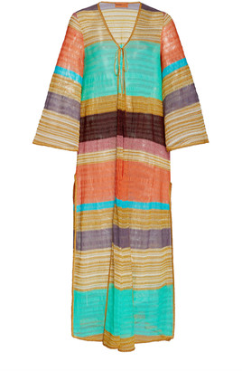 Missoni Mare Striped Knitted Robe
