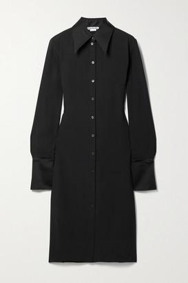 Acne Studios Satin-trimmed Crepe Shirt Dress - Black