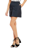Armani Exchange Textured Pleat Front Crepe Mini Skirt