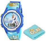 Disney Kids' FNF005T Olaf Digital Watch with Wristband Gift Set