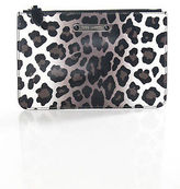 Marc Jacobs Brown White Black Animal Print Clutch Handbag