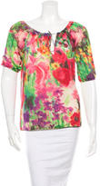 Blumarine Three-Quarter Sleeve Silk Top