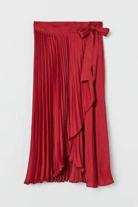 H&M Pleated wrapover skirt