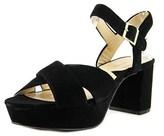 Adrienne Vittadini Powel Open Toe Suede Platform Sandal.