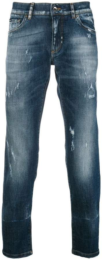 Dolce & Gabbana faded slim fit jeans