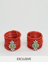 Liars & Lovers Seedbead Navette Cuffs