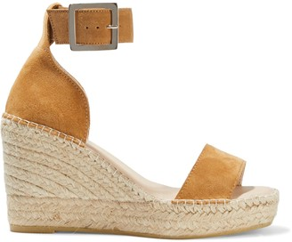 Iris & Ink Senna Suede Espadrille Wedge Sandals