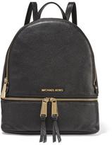 MICHAEL Michael Kors Rhea Textured-leather Backpack - Black