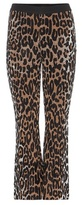 Stella McCartney Wool-blend Knitted Cropped Flared Trousers