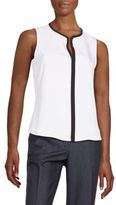 Calvin Klein Contrast-Trim Sleeveless Top