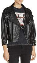 Maje Beline Leather Jacket