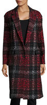 DKNY One-Button Jacquard Coat