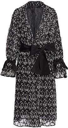 Marina Rinaldi Marina Rinaldi, Plus Size Topazio Embroidered Floral Tulle Overcoat