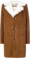 Saint Laurent shearling lined coat - women - Goat Skin/Lamb Skin - 36