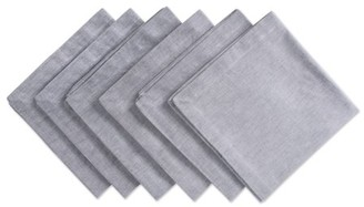 "Dii DII Natural Solid Chambray Napkin (Set of 6), 20x20"", 100% Cotton"