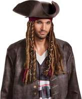 Disney Men's POTC5 Captain Jack Sparrow Hat, Bandana and Dreads-Adult