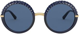 Dolce & Gabbana Eyewear Plisse round-frame sunglasses
