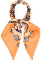 Hermes Les Tambours Silk Scarf